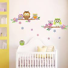 kids wall art next day delivery kids wall art from worldstores walplus owls wall sticker collection