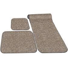 decorian 3 piece rv rug set peppercorn prest o fit 5 0263