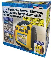 streetwize 12v portable power jumpstarter with air compressor