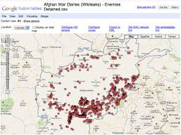Google Fusion Tables Map Mapping Wikileaks Afghan War Diary Data Using Google Fusion Tables