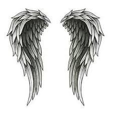 tribal tattoo wings stock photos images u0026 pictures