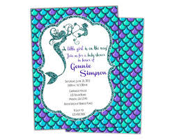 mermaid baby shower glitter mermaid baby shower invitations girl party print express