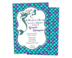 mermaid baby shower invitations glitter mermaid baby shower invitations girl party print express
