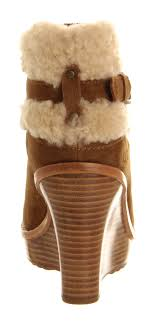 ugg s anais shoes chestnut ugg anais wedge ankle boots chestnut ankle boots