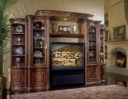 Michael Amini Office Furniture by Michael Amini Villagio Hazelnut Finish Traditional Entertainment