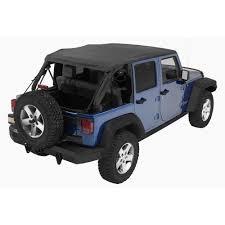 jeep wrangler unlimited soft top bestop trektop nx black diamond complete replacement soft top