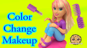 color change hair nails and makeup with polly pocket makeover