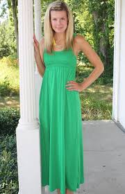 green maxi dress dressed up
