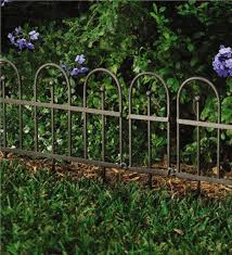 easy locking garden or flower bed iron fence edging decorative