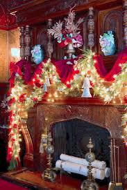 fireplace christmas decor holiday home