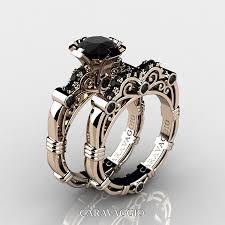 black gold wedding rings masters caravaggio 14k gold 1 0 ct black diamond