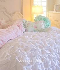 Beach Cottage Bedding Beach Cottage Chic Dreamy Ruffles Comforter Set Twin