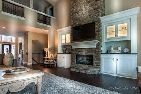 two story fireplace stone fireplace and built ins two story great room built and