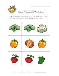 all worksheets vegetable worksheets for preschool printable