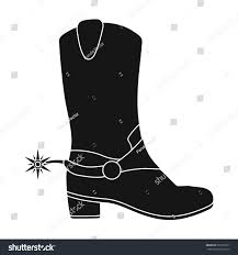 s boots style cowboys boots icon black style isolated stock vector 529192531