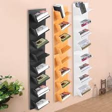 hanging bookshelf 8 9 tier corner hanging shelf storage display unit wall mount