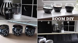 White And Silver Bedroom Black And White Diy Room Youtube