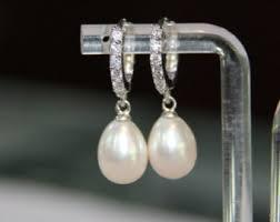 drop pearl earrings pearl drop earrings etsy