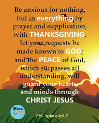 with prayer and thanksgiving festival collections