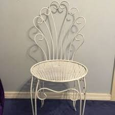vintage ice cream parlor chair wrought iron twisted vintage ice