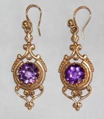 amethyst earrings antique amethyst jewelry antique amethyst earrings