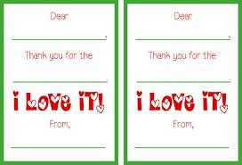 kids thank you cards printable christmas thank you cards
