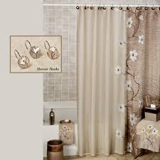 Croscill Bath Accessories by Magnolia Floral Shower Curtain By Croscill