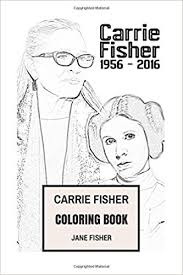 amazon carrie fisher coloring book princess leia alderaan