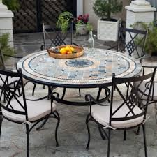 dining rooms winsome mosaic outdoor dining table tile mosaic