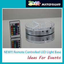 Led Light Base For Centerpieces by Crystal Centerpieces Wholesale Mirror Round Led Battery Operated