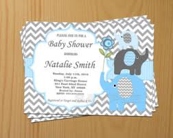 editable baby shower invitation elephant baby shower