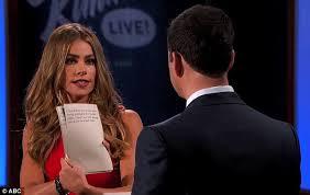 Dick Slap Meme - sofia vergara slaps jimmy kimmel as they read internet insults to