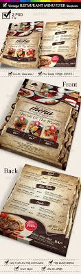 menu flyer template restaurant menu flyer templates vintage texture by fahmijoe ind