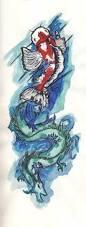 32 best dragon koi fish tattoos images on pinterest fish tattoos