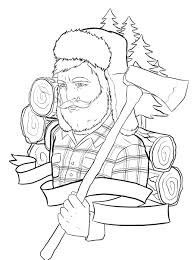 lumberjack tattoo outline by ziuuziuu on deviantart coloring