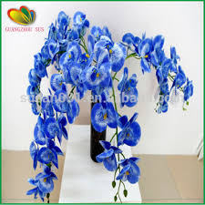 Blue Orchid Flower Real Touch Flowers Wholesale Fake Vanda Orchid Artificial Blue