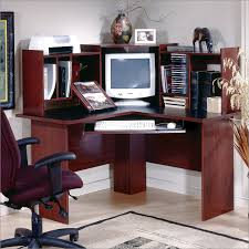 South Shore Computer Desk Morgan Corner Desk In Cherry And Black By South Shore Furniture