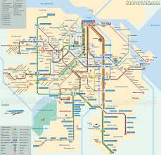 Montreal Underground City Map Tram Metro Subway Underground Tube English Plan With Best Museums