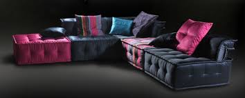 adjustable back sectional sofa modern adjustable back multi color silk fabric sectional sofa