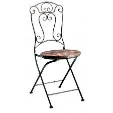 chaise de pliante chaise pliante bois et fer forgé jeanne pier import