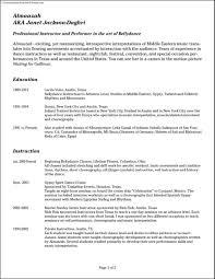 Dancer Resume Format 100 Resume Sample Germany Letter Template Sponsorship