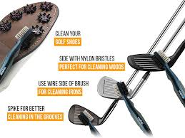 amazon com golf brush and club groove cleaner easily attaches