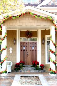 Decoration House by Decorations Green And Red Fabrics Wreath Christmas Home Entrance