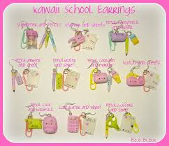 earrings for school kawaii school earrings by bojo bijoux on deviantart