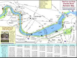 Los Angeles River Map by Running Routes On Boston U0027s Charles River Path