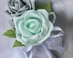 mint green corsage mint green corsage etsy