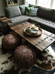 Cowhide Home Decor by Dear Lillie More Progress In Our Den Study Living Room