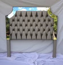 Fabric Headboard Queen by Gray Faux Leather Upholstered Headboard With Mirrors Tufted