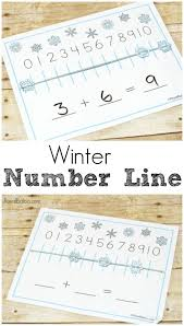 winter number line for chilly math royal baloo
