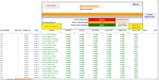 Calibration Spreadsheet Template Renishaw Cnc Reporter